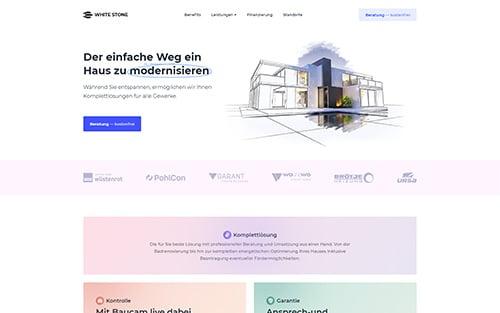 Webseite von White Stone GmbH